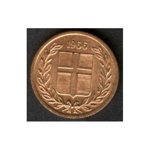 ICELAND 1 Eyrir 1966
