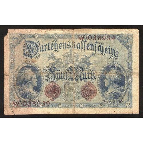 GERMANY 5 Mark 1914