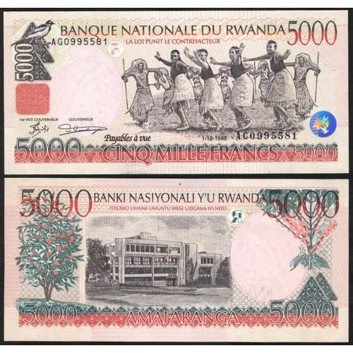 RWANDA 5000 Francs 1998