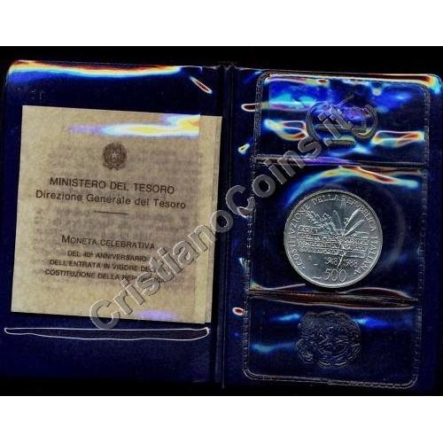 500 Lire 1988 COSTITUZIONE...