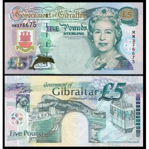 GIBRALTAR 5 Pounds 2000...