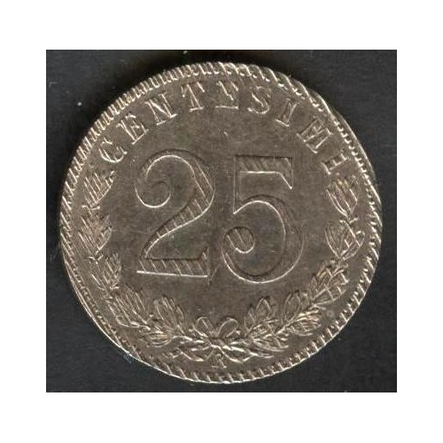 25 Centesimi 1902 Bordo e...