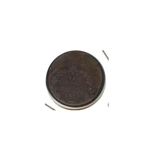 2 Centesimi 1861 Impronta...