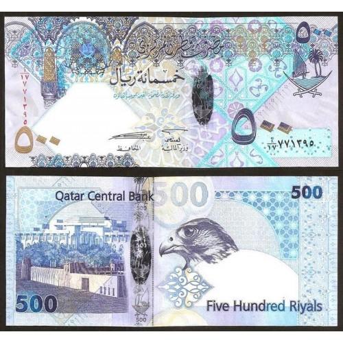 QATAR 500 Riyals 2007 Hybrid