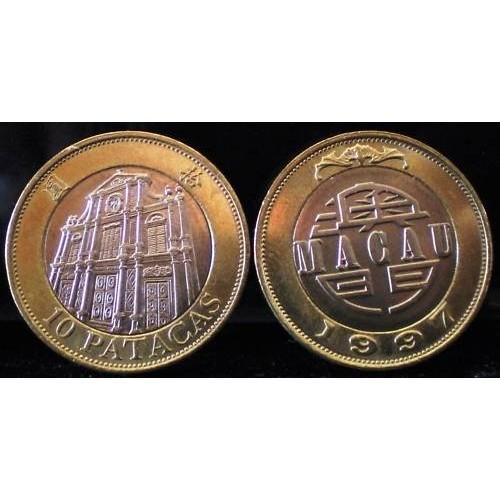 MACAO 10 Patacas 1997...