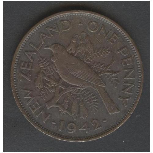 NEW ZEALAND 1 Penny 1942...