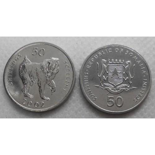 SOMALIA 50 Shillings 2002...