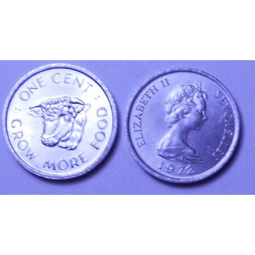 SEYCHELLES 1 Cent 1972 FAO
