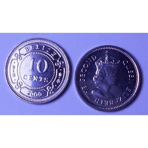 BELIZE 10 Cents 2000