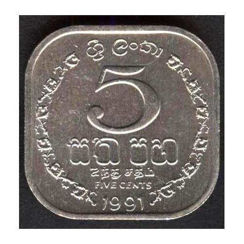 SRI LANKA 5 Cents 1991