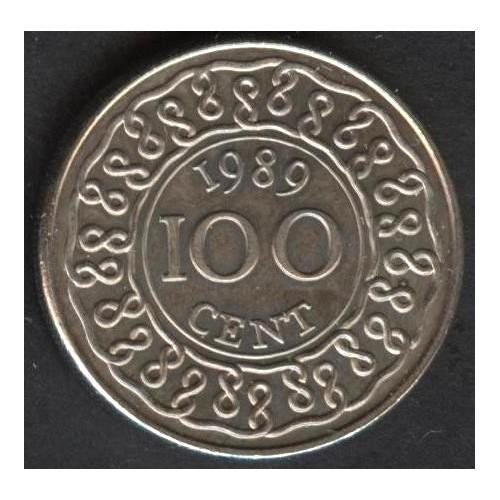 SURINAME 100 Cents 1989