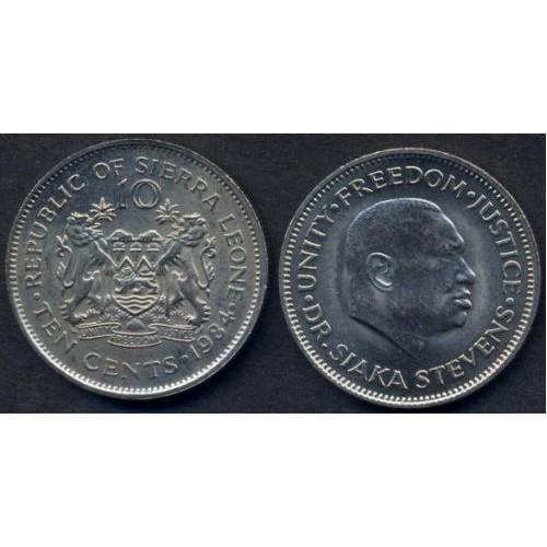 SIERRA LEONE 10 Cents 1984...