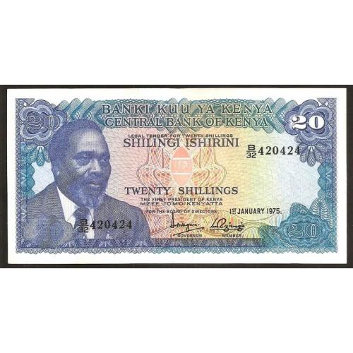 KENYA 20 Shillings 1975
