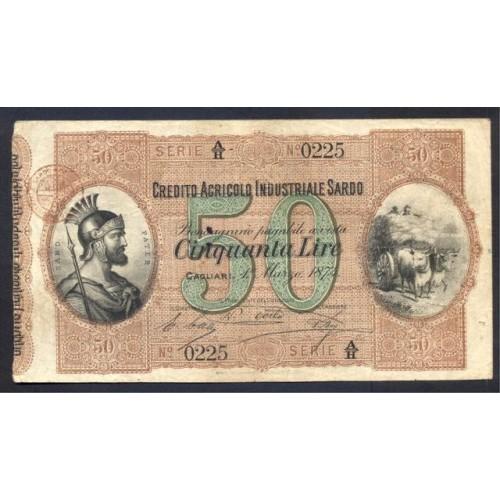 50 LIRE 1874 CREDITO...