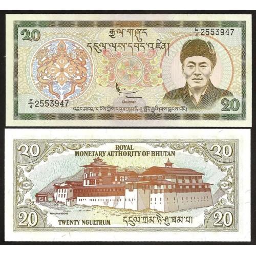 BHUTAN 20 Ngultrum 2000