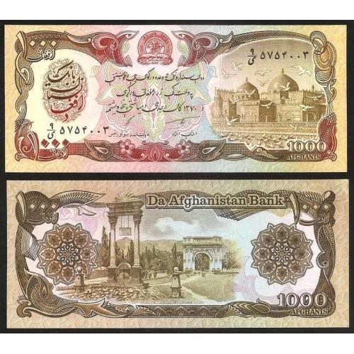 AFGHANISTAN 1000 Afghanis 1991