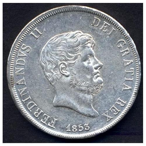 FERDINANDO II PIASTRA 1853 AG