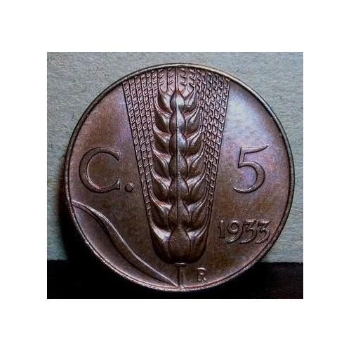 5 CENTESIMI 1933
