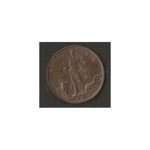 1 Centesimo 1912