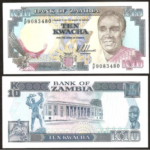 ZAMBIA 10 Kwacha 1989/91