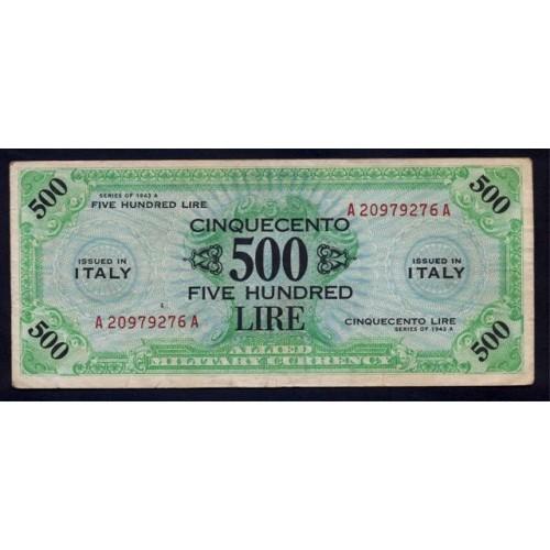 500 AM LIRE BILINGUE 1943...