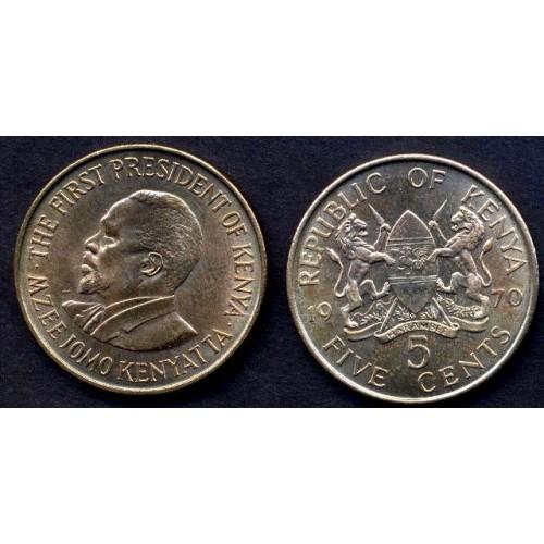 KENYA 5 Cents 1970