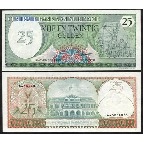 SURINAME 25 Gulden 1985