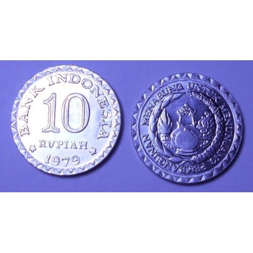 INDONESIA 10 Rupiah 1979 FAO