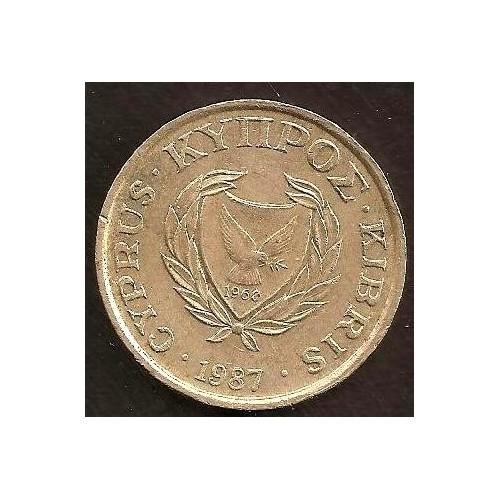 CYPRUS 1 Cent 1987