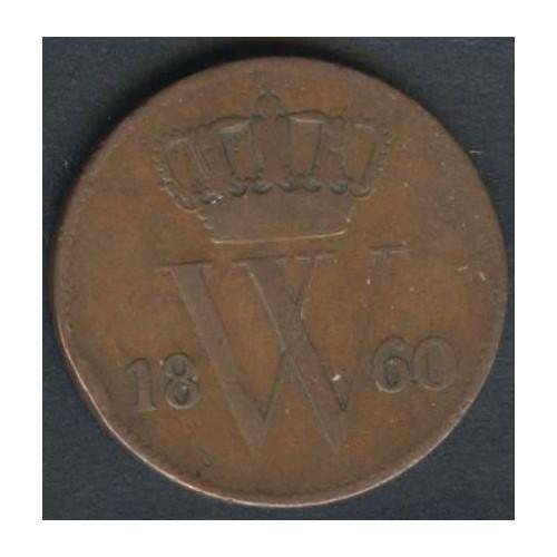 NETHERLANDS 1 Cent 1860