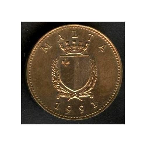 MALTA 1 Cent 1991