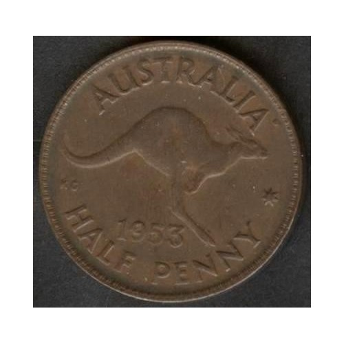 AUSTRALIA 1/2 Penny 1953