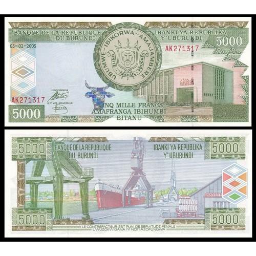 BURUNDI 5000 Francs 2005