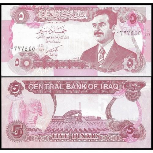 IRAQ 5 Dinars 1992