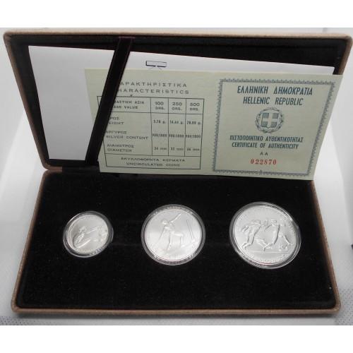 GREECE Set n.3 coins AG...