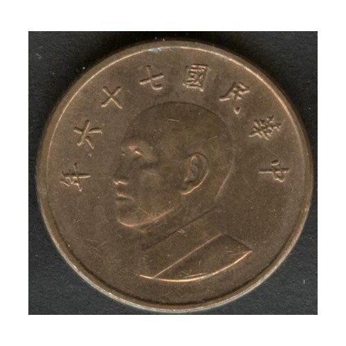 TAIWAN 1 Yuan 1987
