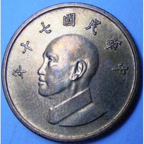 TAIWAN 1 Yuan 1981