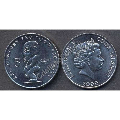 COOK ISLANDS 5 Cents 2000 FAO