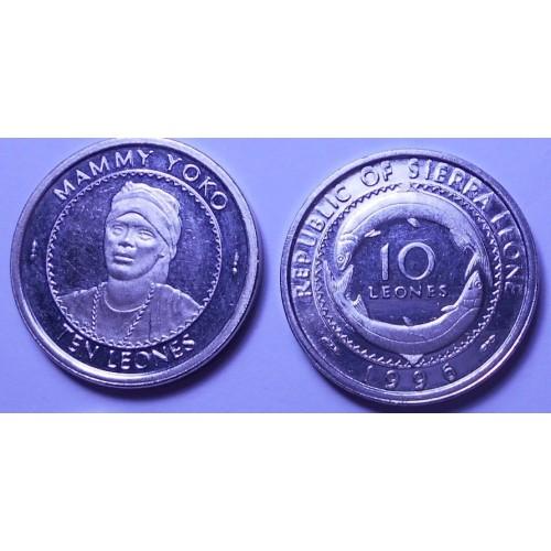 SIERRA LEONE 10 Leones 1996...