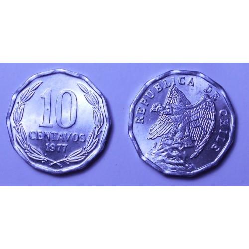CHILE 10 Centavos 1977