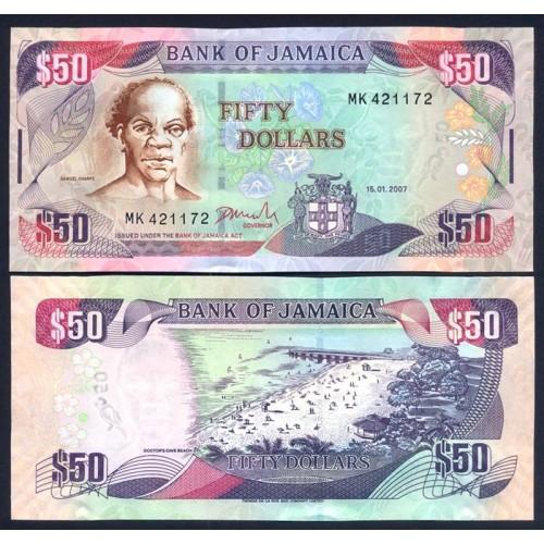 JAMAICA 50 Dollars 2007