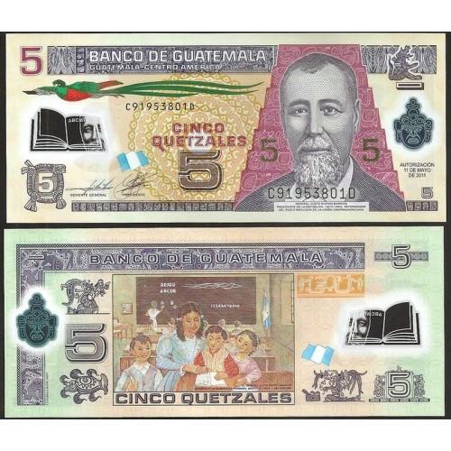 GUATEMALA 5 Quetzales 2011