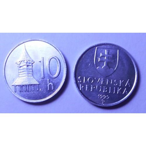 SLOVAKIA 10 Halierov 1999