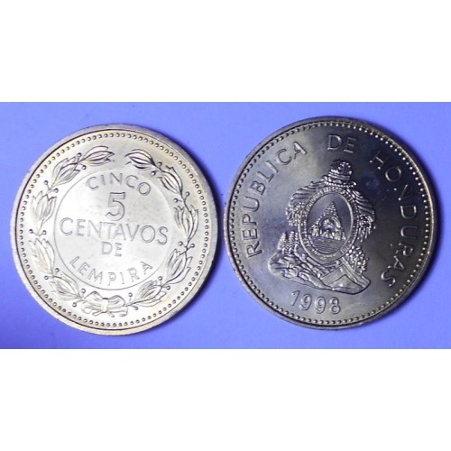 HONDURAS 5 Centavos 1998