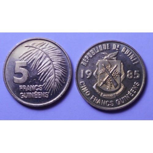 GUINEA 5 Francs 1985