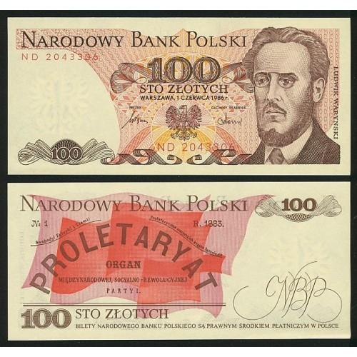 POLAND 100 Zlotych 1986