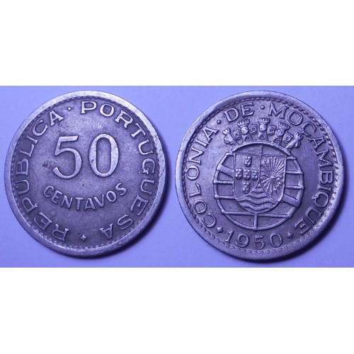 MOZAMBIQUE 50 Centavos 1950