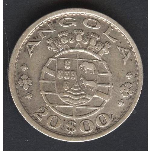 ANGOLA 20 Escudos 1952 AG
