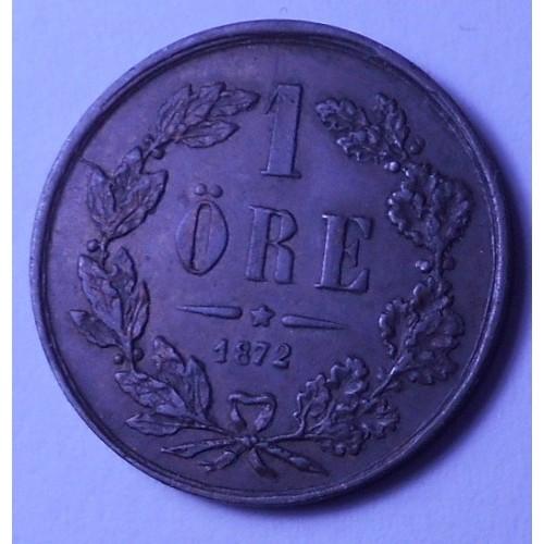 SWEDEN 1 Ore 1872 L.A.