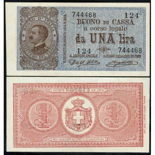 1 Lira 21.09.1914